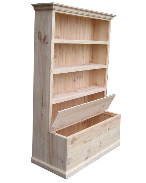 6x4 Deluxe Bookcase With Toybox