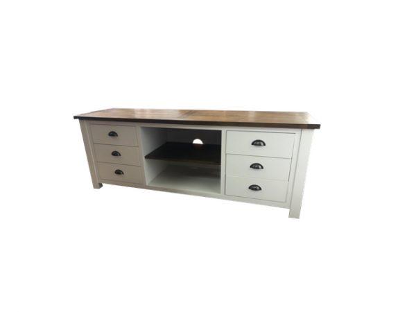 Brookmont 6 drawer two tone tv unit