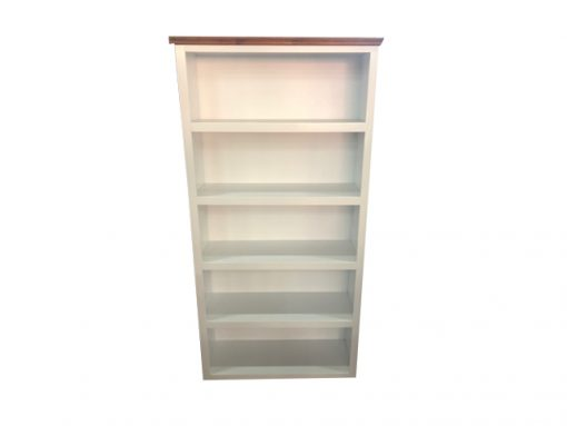 6×3 Deluxe bookcase with 2 tone library trim